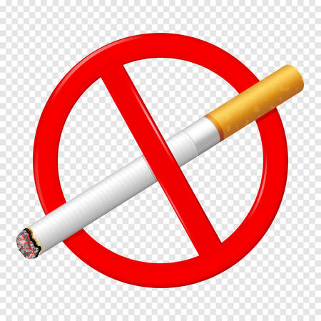 No smoking sign isolated on transparent background