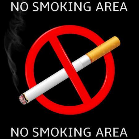 No smoking area label