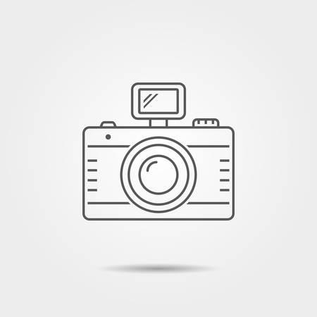 Photo camera thin line icon. Vector illustration.