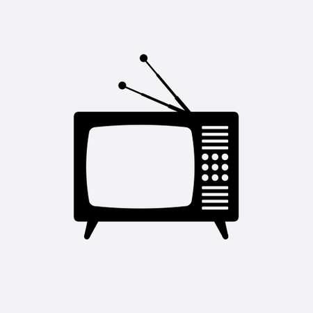 Retro tv flat icon Vector illustration isolated on plain background.