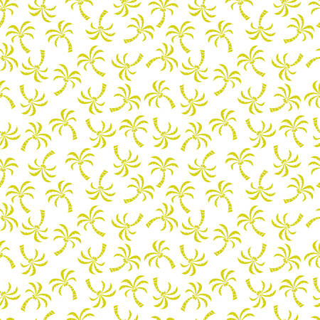 Seamless pattern with palm trees. Vector illustration.