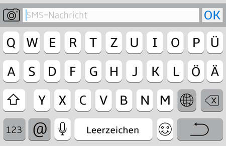 Germany alphabet virtual keyboard for mobile phone Stock fotó - 120658888
