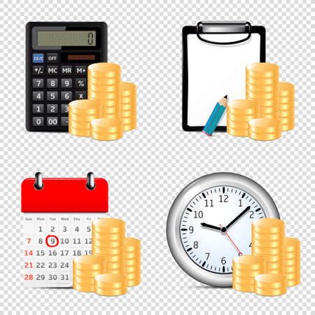 Finance and banking vector icons set