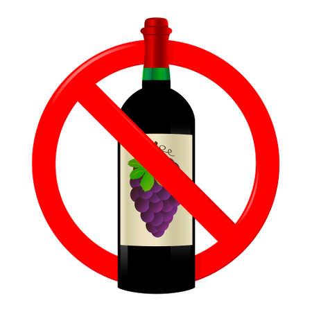Nie pić znak