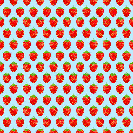 Seamless background with pink strawberries. Vector illustration.