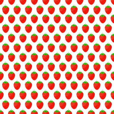 Strawberry vector pattern background. Vector illustration.