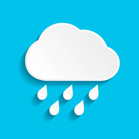 Rain icon with cloud and drop