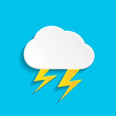 Thunderstorm icon  イラスト・ベクター素材