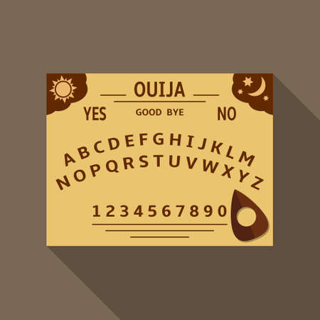 Ouija board flat design illustration. Vector EPS10. Illustration