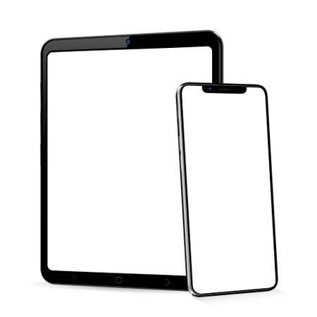 Tablet with smart phone mock up Ilustração