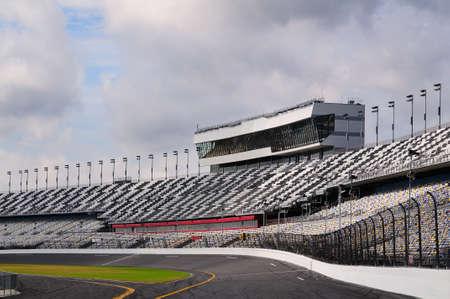 Foto genomen door het spoor van een grote race Speedway