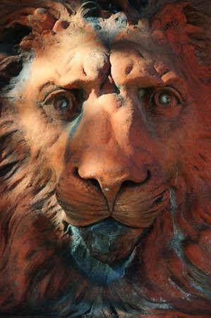 Sculpture of a lions head