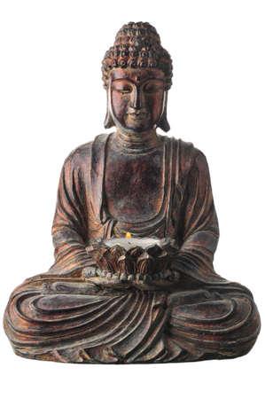Geïsoleerde shot van een Aziatisch standbeeld