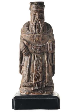 geïsoleerde schot van Aziatische standbeeld