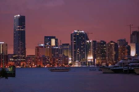 Schot van Miami van key Biscayne direct na zons ondergang