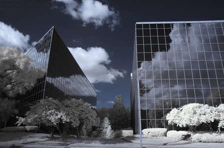Infrarood opname van kantoor-gebouwen in de stad Orlando, Florida