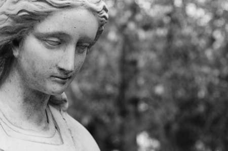 m�lancolie: Black and white image of a melancholy looking female