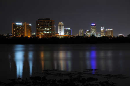 Downtown Orlando as seen from Lake Ivanhoe facing south photo