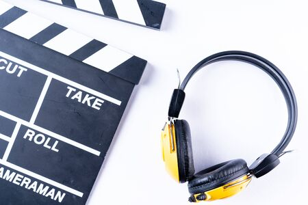 Clapper board isolated Stock Photo