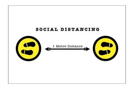 Social Distancing vector, disease prevention concept 矢量图片