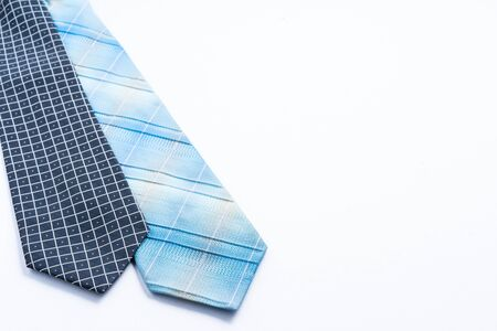 Neck ties isolated on white with copy space for text