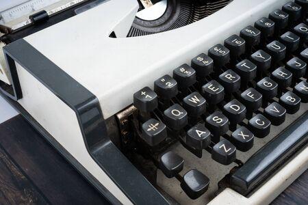 Closed up shot of a vintage typewriter