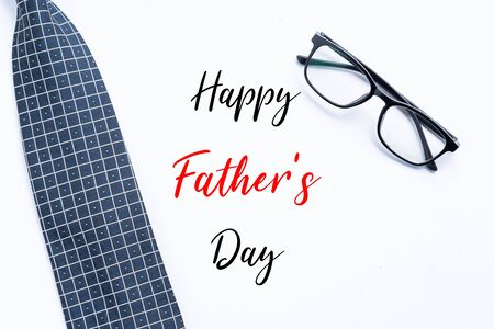 Happy Father's Day greetings with neck tie