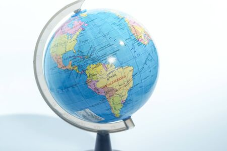 world globe isolated against white background Banque d'images