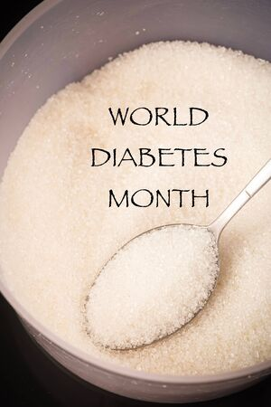 World Diabetes Month concept for November