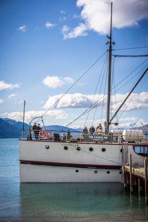 The TSS Earnslaw is a 1912 Edwardian vintage twin screw steamer plying the waters of Lake Wakatipu in New Zealand.