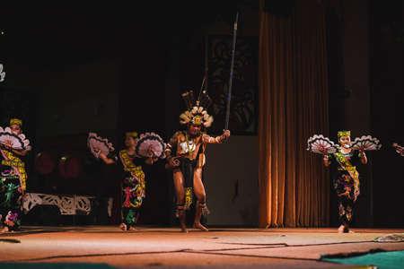 The Sarawakian Traditional Dance by Orang Ulu, one of the local ethnic in Sarawak