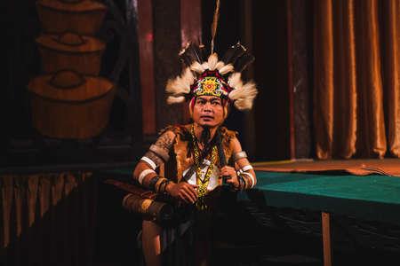 The Sarawakian Traditional Dance by Orang Ulu, one of the local ethnic in Sarawak Publikacyjne