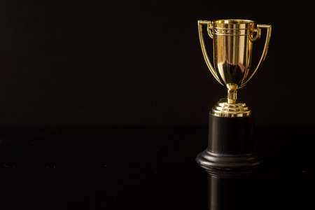 Trophy replica isolated against black