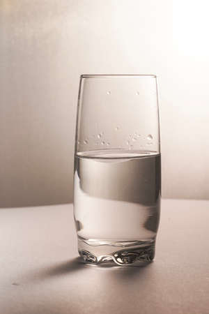 Glass half empty or glass half full. Psychology or motivational concept