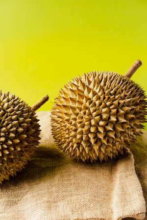 The durian is the fruit of several tree species belonging to the genus Durio. There are 30 recognised Durio species, at least nine of which produce edible fruit.