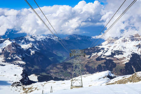 The snowy mountains at Mount Titlis, Switzerland