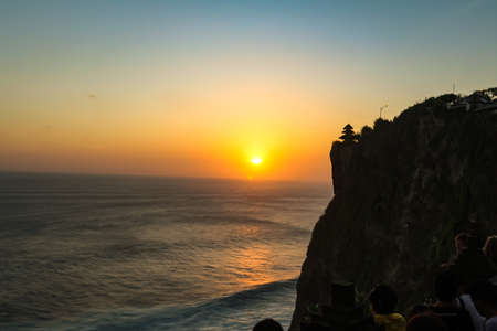 Sunset at Uluwatu Temple at Uluwatu Beach, Bali
