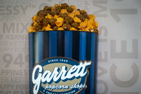 Garrett Popcorn Shop at One Utama shopping mall, Malaysia. Garrett Popcorn opened up their first shop in 1949 at 10 West Madison Street in Chicago.