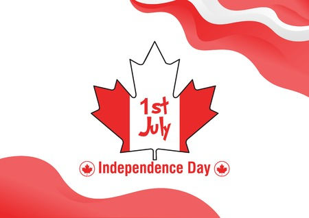 Happy Canada Day. Independence day Poster background