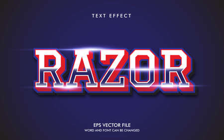 text effects sports white blue glow text school vector illustration This vector design is can be used for business, templates and more. easy to use and edit