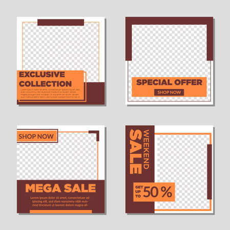 Set of sale banner template design. Vector illustration. This vector design is  can be used for business, templates and more. easy to use and edit  イラスト・ベクター素材