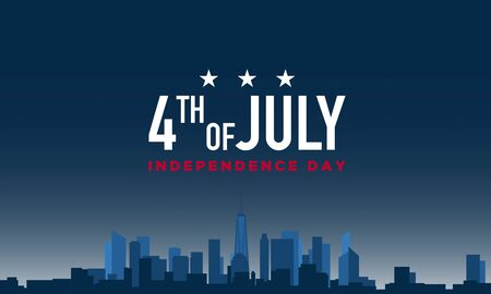 American Independence Day Background. Fourth of July. Vector illustration