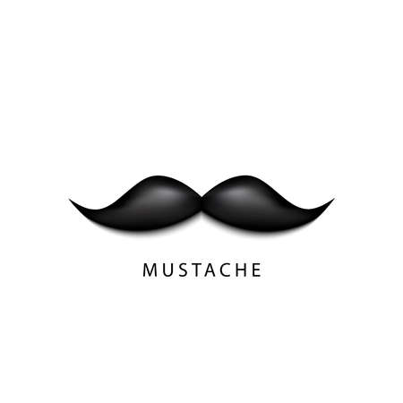 Vector Graphic of Black Mustache on White Background. Vector Illustration.  イラスト・ベクター素材