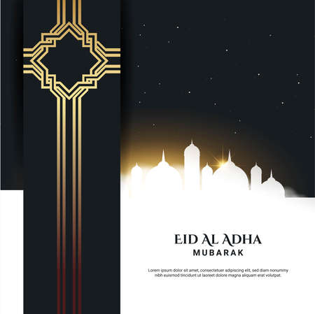Eid Al Adha Background. Fit for greeting card, poster and other. Vector Illustration. Vector Illustration