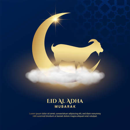 Eid Al Adha Background. Fit for greeting card, poster and other. Vector Illustration.