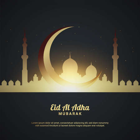 Eid Al Adha Background. Fit for greeting card, wallpaper and other. Vector Illustration.