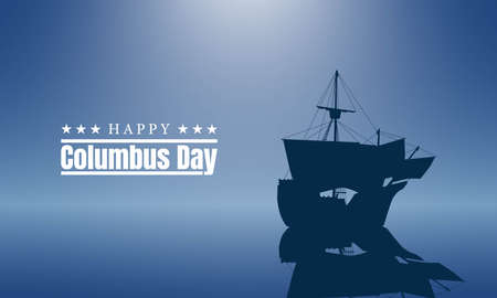 Columbus Day Background Design. We will be Closed on Columbus Day. Vector Illustration.