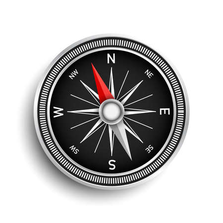 Compass on a white background. Navigation icon. Vector Illustration.