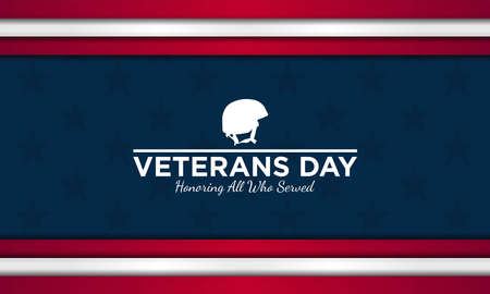 Vector illustration of Veterans Day. Honoring all who served.