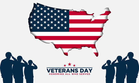 Veterans Day Background. Honoring All Who Served. Vector Illustration.